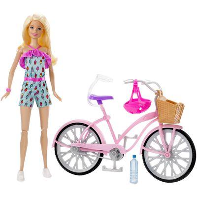 Muñeca Barbie Paseo En Bicicleta