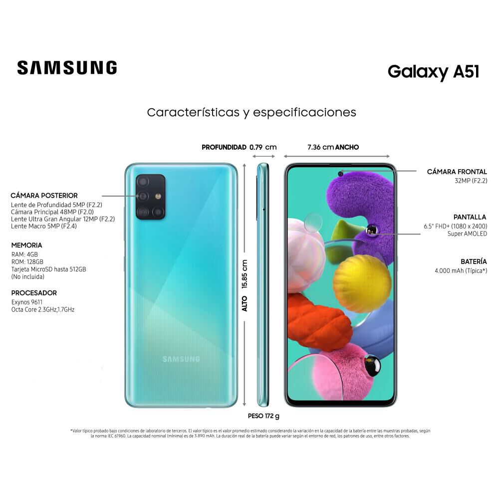 Smartphone Samsung Galaxy A51 128 Gb / Liberado image number 3.0