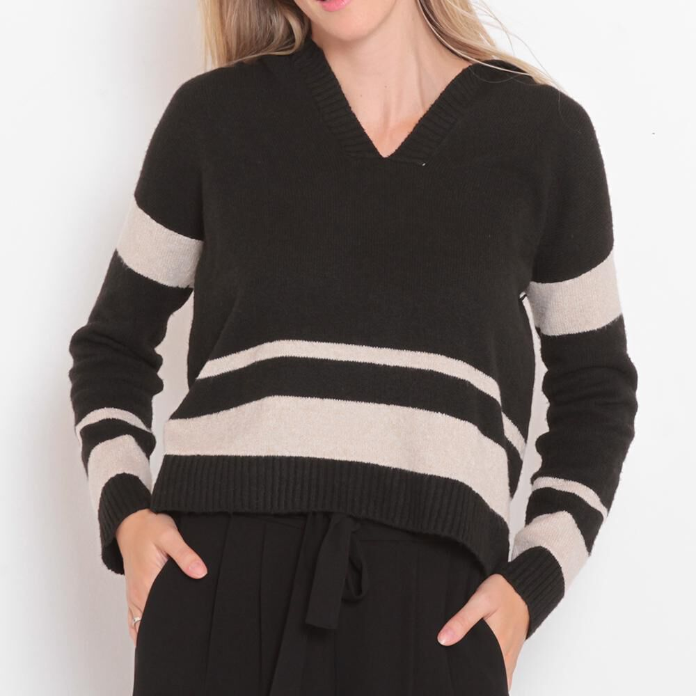 Sweater Rayas Cuello V Mujer Wados image number 0.0
