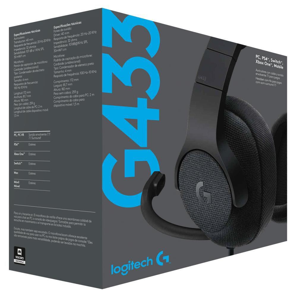 Audifonos Gamer Logitech G433 image number 4.0