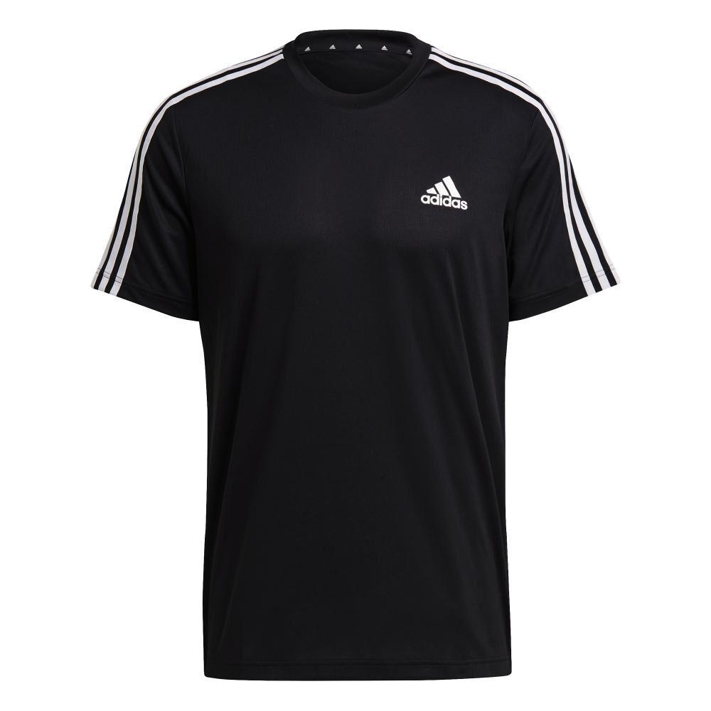 Polera Hombre Adidas D2m 3 Stripes image number 5.0
