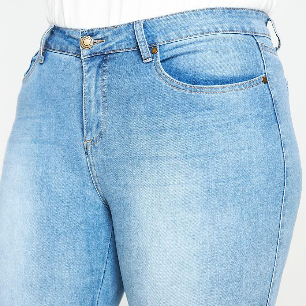Jeans Tiro Medio Skinny Fit Mujer Sexy Large image number 3.0