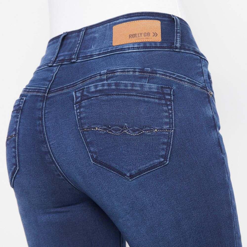 Jeans Mujer Tiro Alto Almohadilla Rolly Go image number 3.0