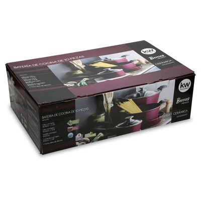 Bateria De Cocina Kw Berries Premium / 10 Piezas