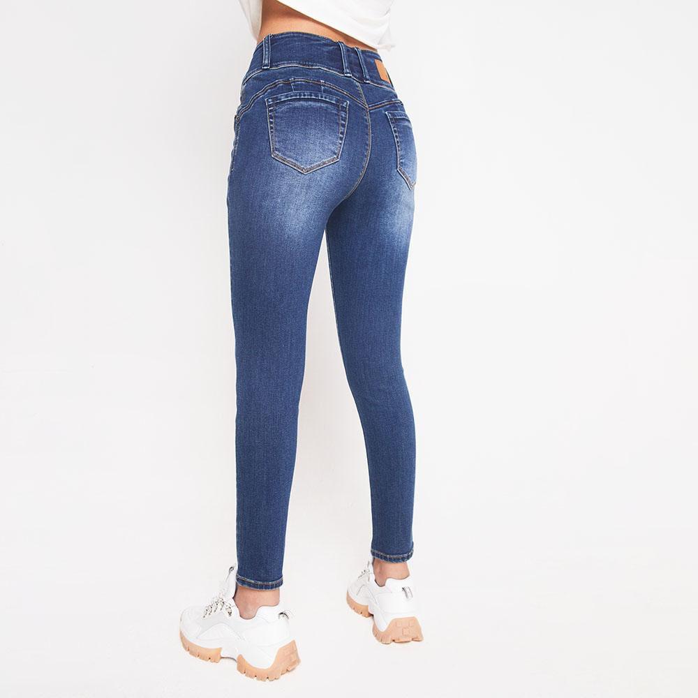 Jeans Tiro Alto Con Almohadillas Rolly Go image number 2.0