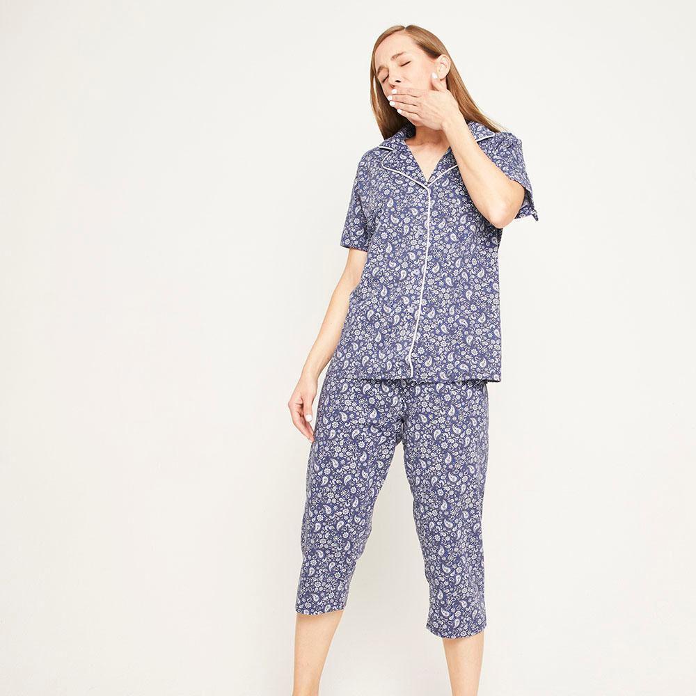Pijama Capri Manga Corta Mujer Lesage image number 0.0