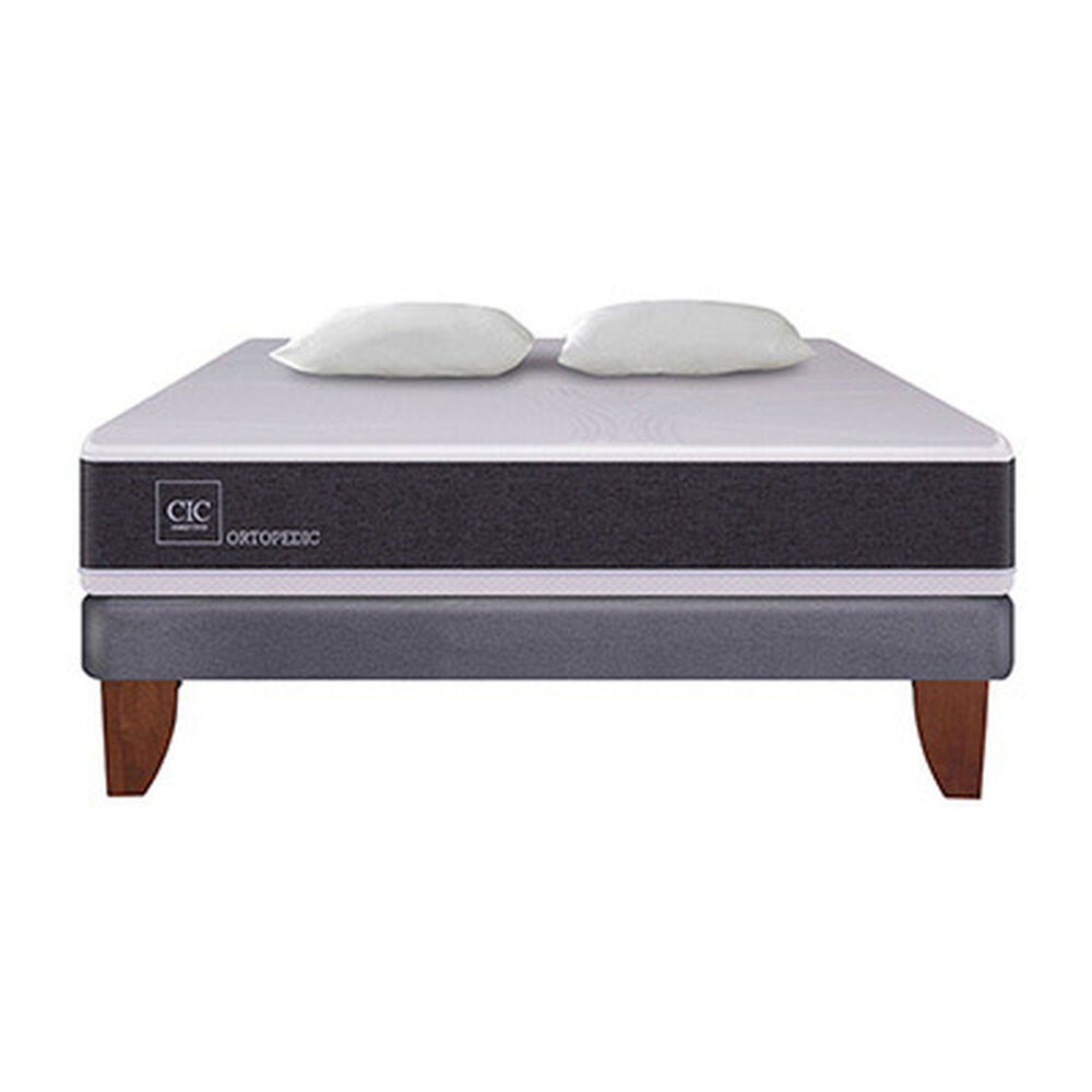 Cama Europea Cic New Ortopedic / 2 Plazas / Base Normal + Almohadas image number 5.0