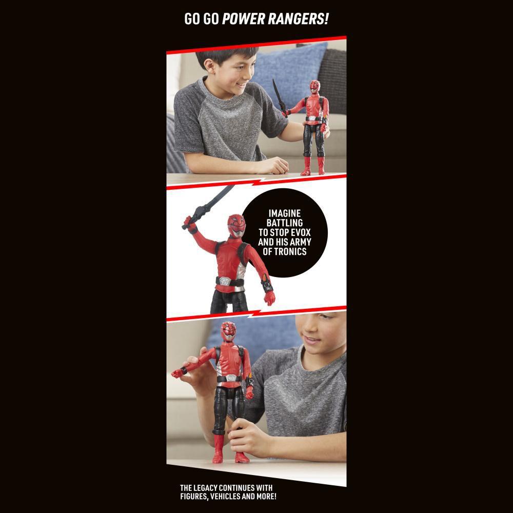Figura De Acción Power Rangers Bmr Red Ranger image number 3.0