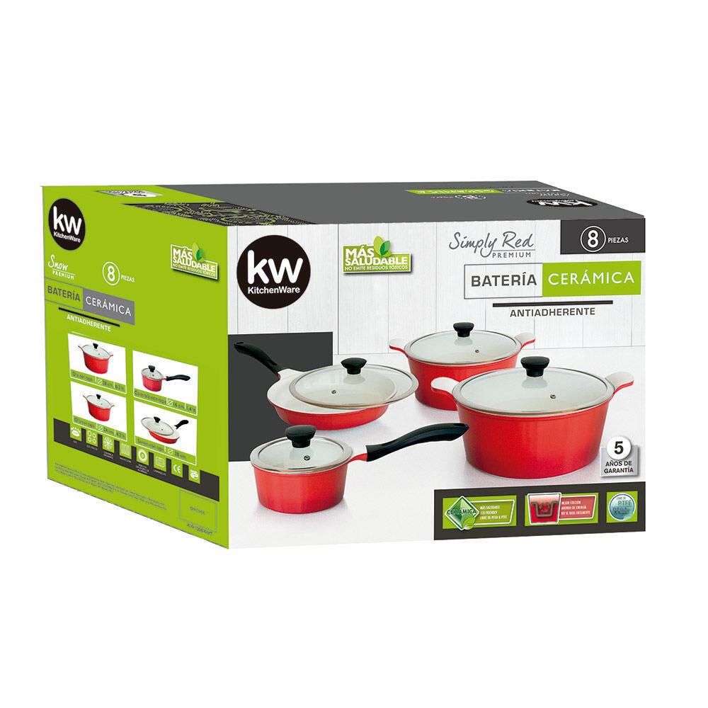 Batería De Cocina Kw Simply Red / 10 Piezas image number 1.0