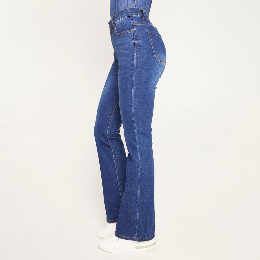 Jeans Tiro Medio Flare Mujer Geeps image number 5.0