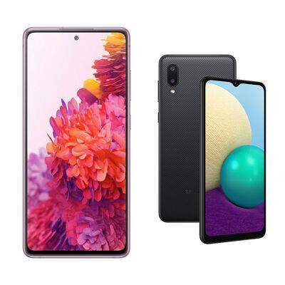 Samsung S20FE Morado + Samsung A02 Negro