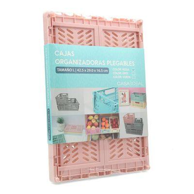 Caja Organizadora Casaideal Grande Rosa