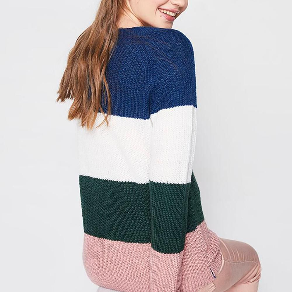 Sweater Bloque Color Mujer Freedom image number 2.0