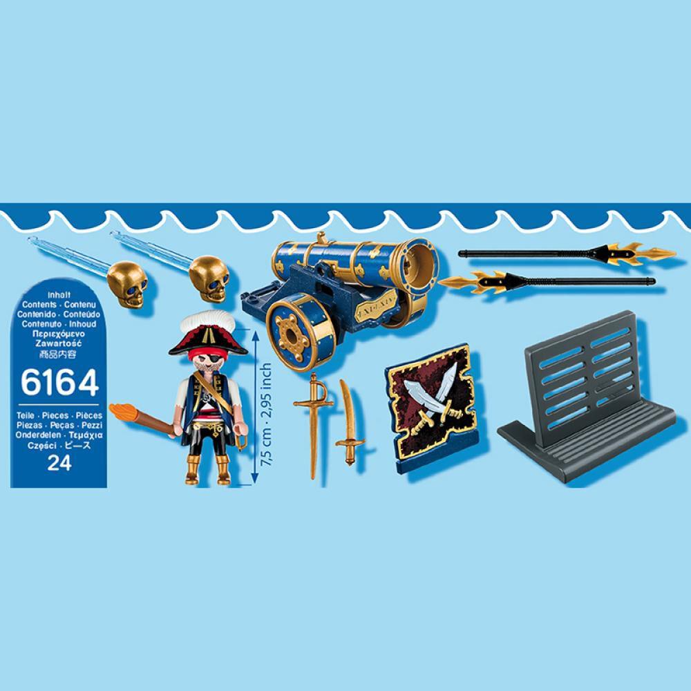 Figura De Acción Playmobil Cañón Interactivo Azul Con Pirata image number 3.0