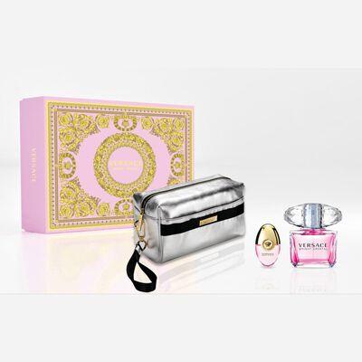 Perfume Bright Crystal + Pefumero + Pouch Versace / 90 Ml / Eau De Toillete