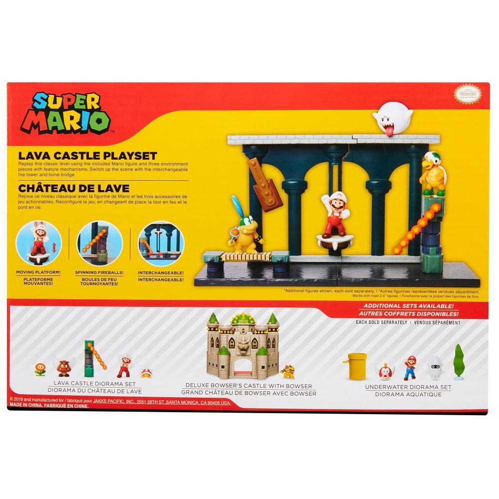 Figura De Accion Nintendo Set Escena Batalla Castillo De Lava Super Mario image number 1.0
