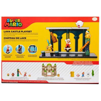 Figura De Accion Nintendo Set Escena Batalla Castillo De Lava Super Mario