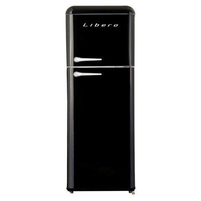 Refrigerador Libero Retro Lrt-210Dfnr Negro / Frío Directo / 203 Litros