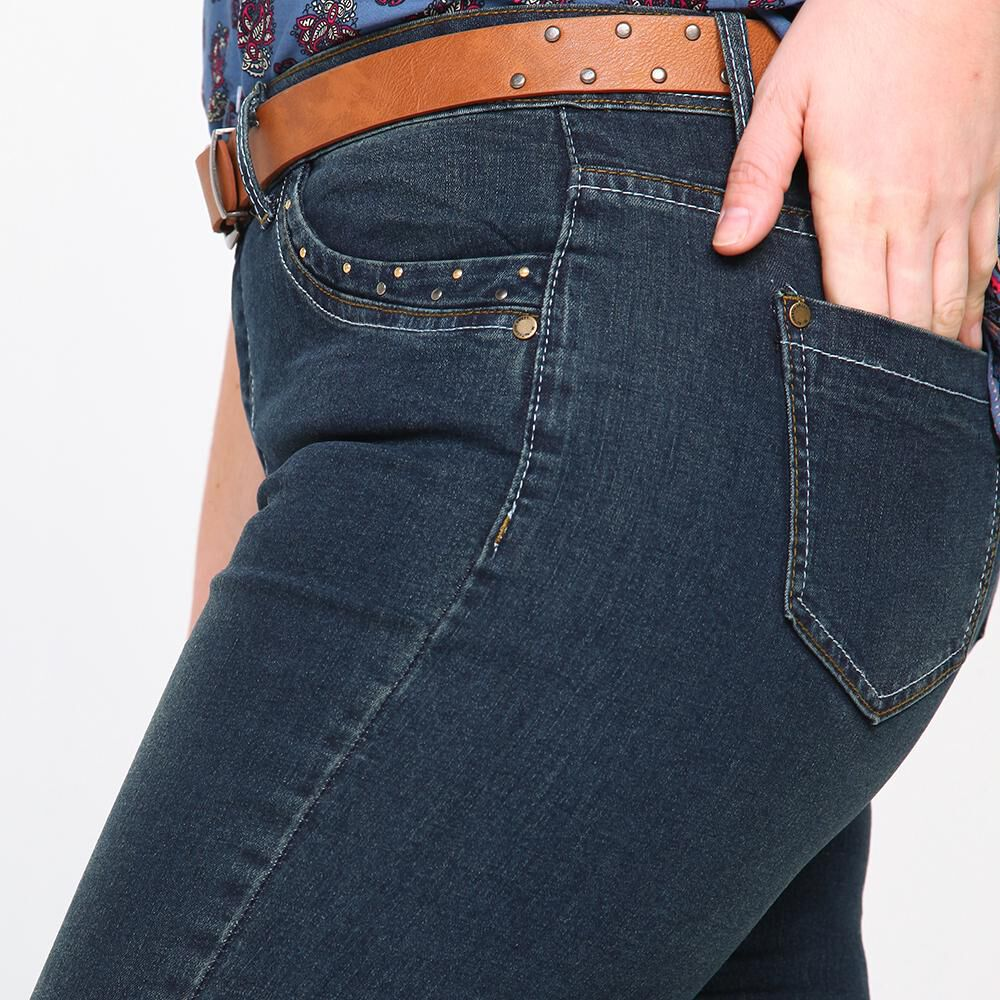Jeans Mujer Tiro Medio Skinny Sexy large image number 3.0