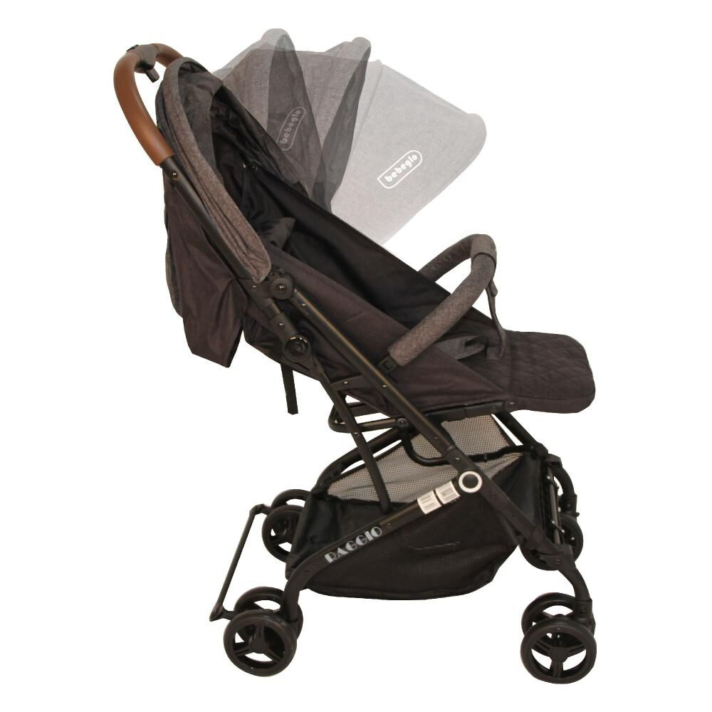 Coche Travel System Compacto Bebeglo RS-13785-3 Gris image number 8.0