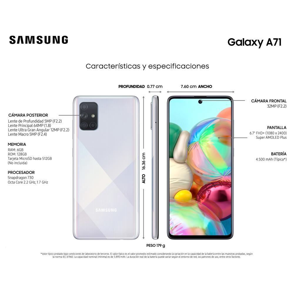 Smartphone Samsung Galaxy A71 128 Gb - Liberado image number 3.0