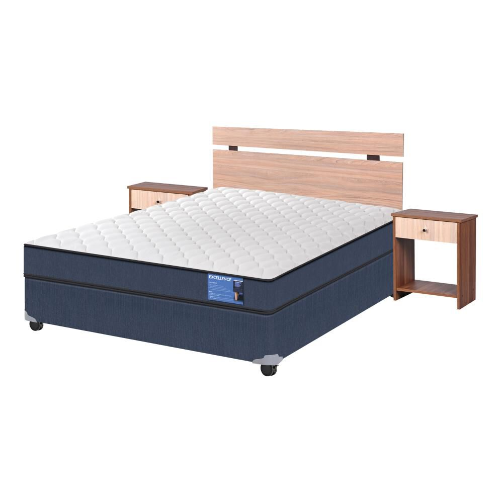 Cama Americana Cic Excellence / Full / Base Normal  + Set De Maderas image number 1.0