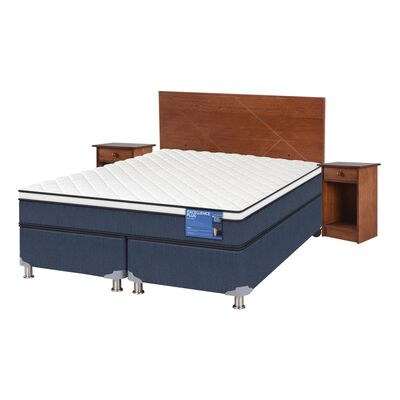 Cama Americana Cic Excellence Plus / 2 Plazas / Base Dividida  + Set De Maderas