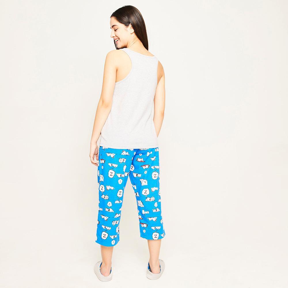 Pijama Capri Mujer Snoopy image number 2.0