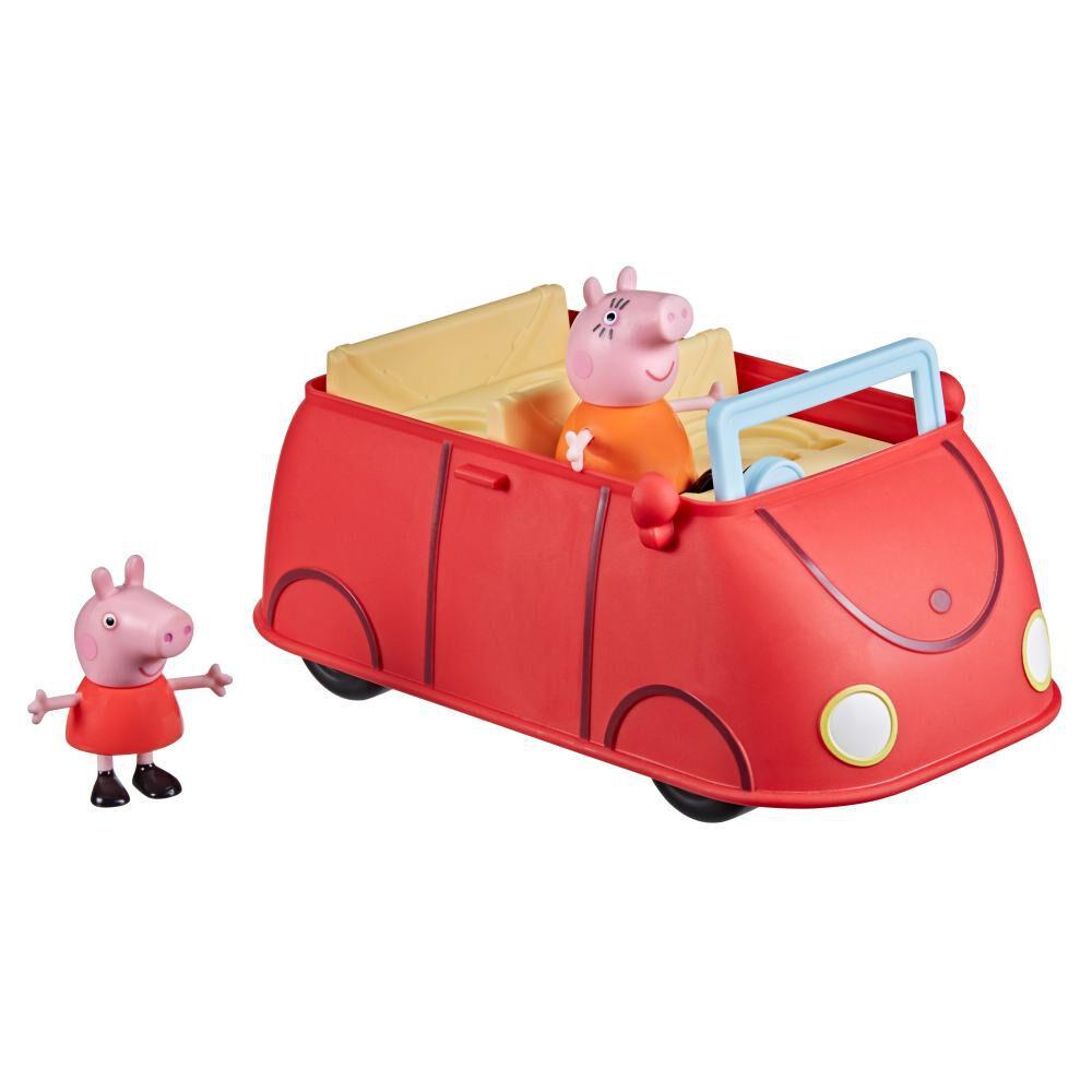 Figura De Acción Peppa Pig Auto Rojo Familiar image number 0.0