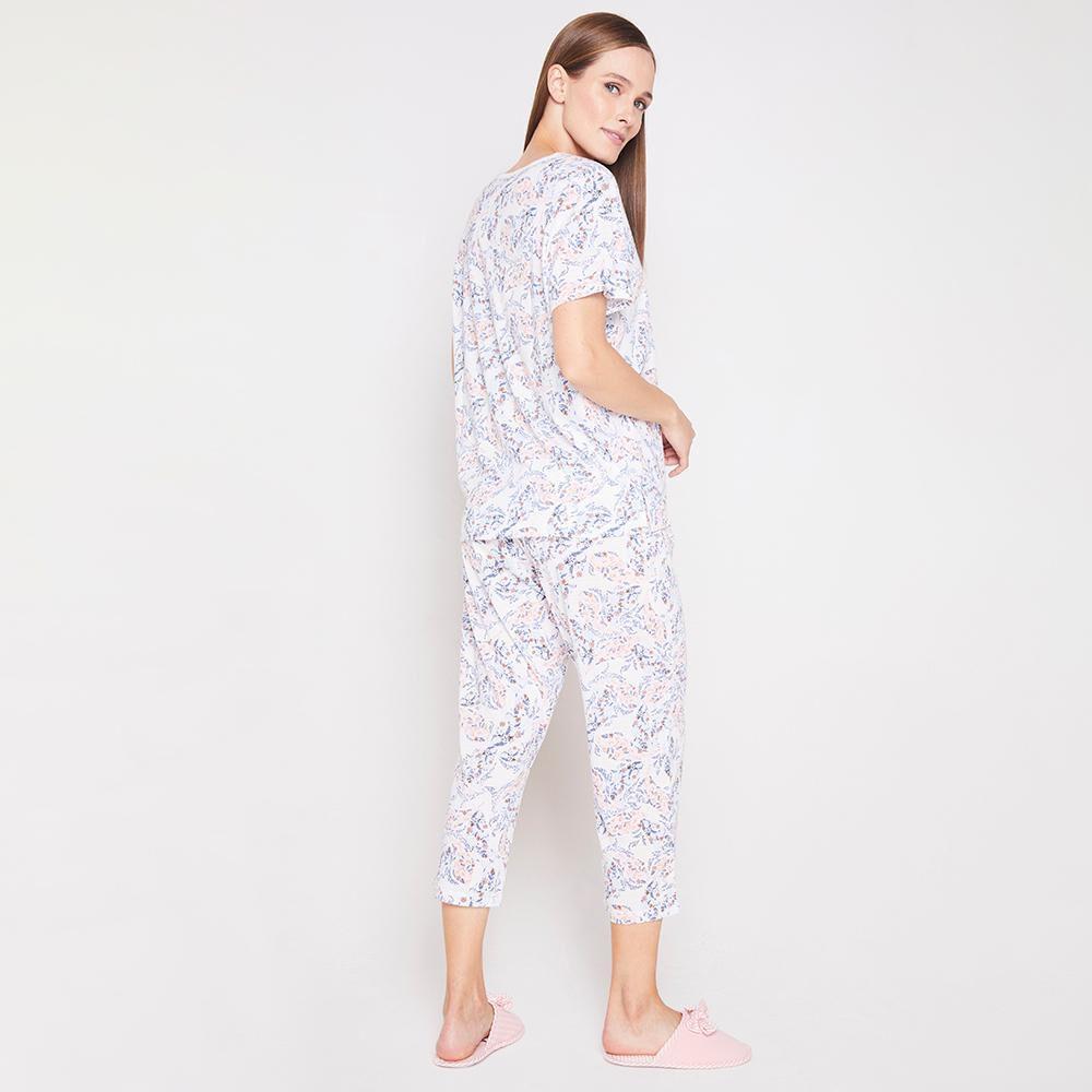 Pijama Capri Algodón Mujer Lesage image number 2.0