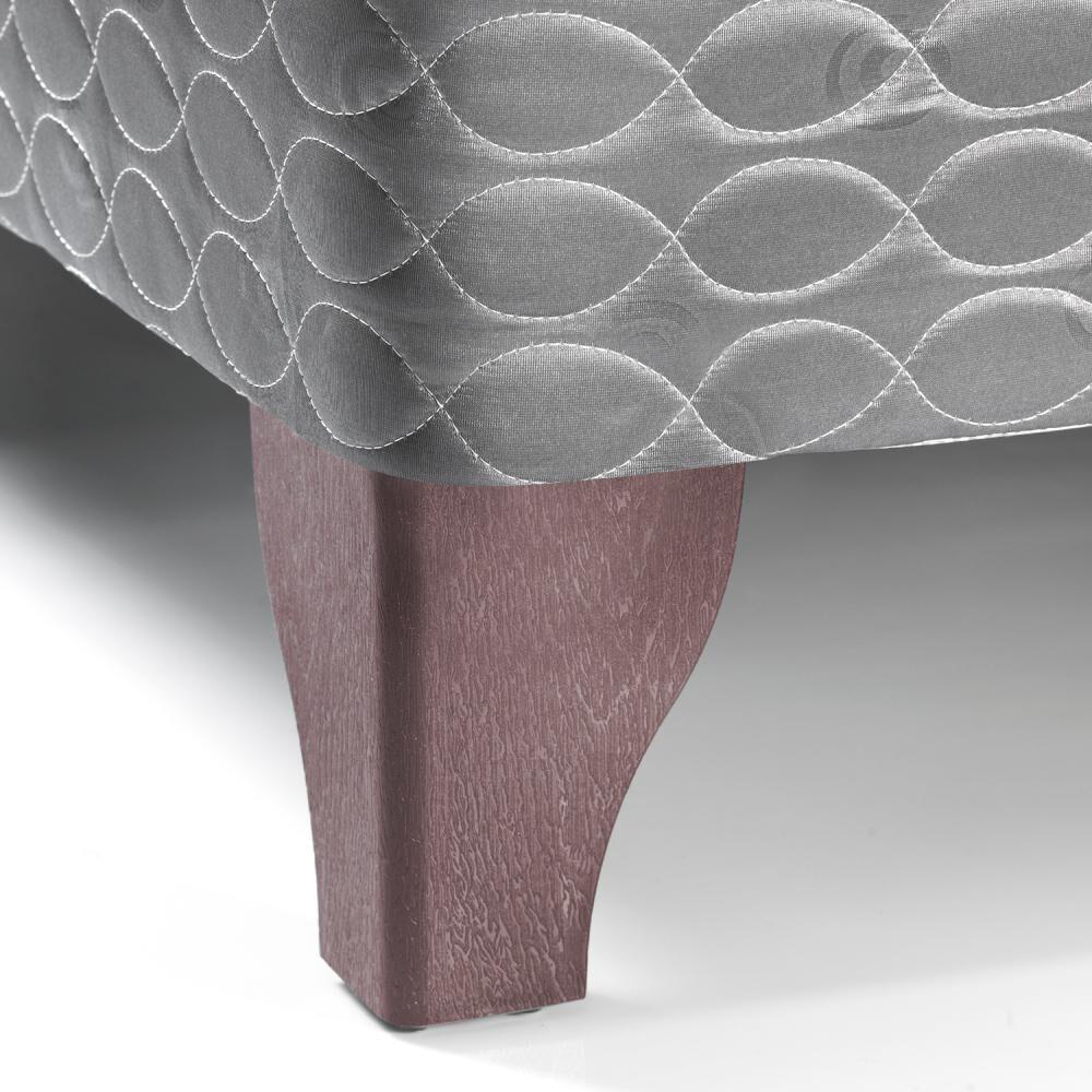 Cama Europea Celta Apolo Black / Full / Base Normal  + Textil image number 1.0