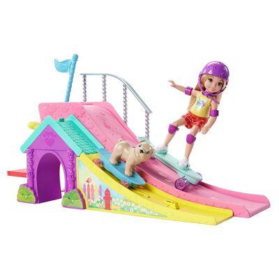 Muñeca Barbie Club Chelsea Pista De Patinaje