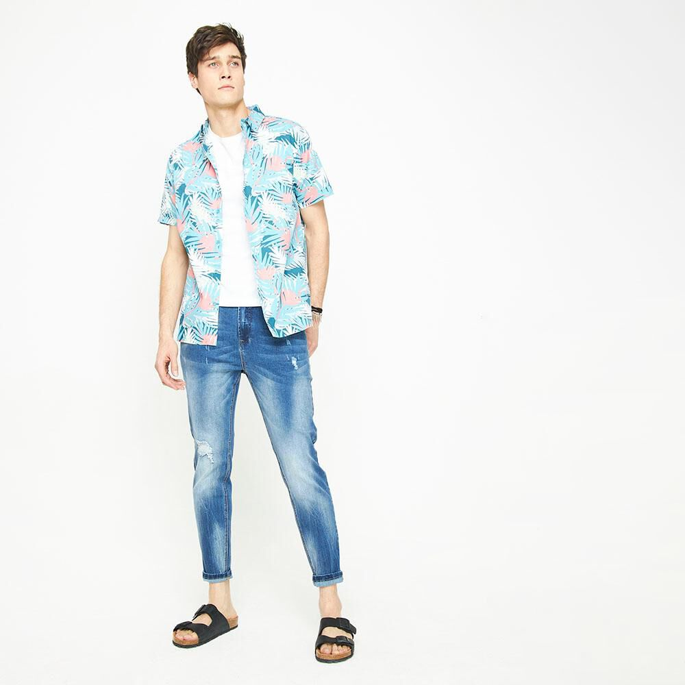 Camisa Manga Corta Con Diseño Hombre Ocean Pacific image number 5.0