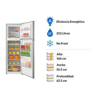 Refrigerador Bottom Freezer Kubli Convencional/ No Frost / 252 Litros / A