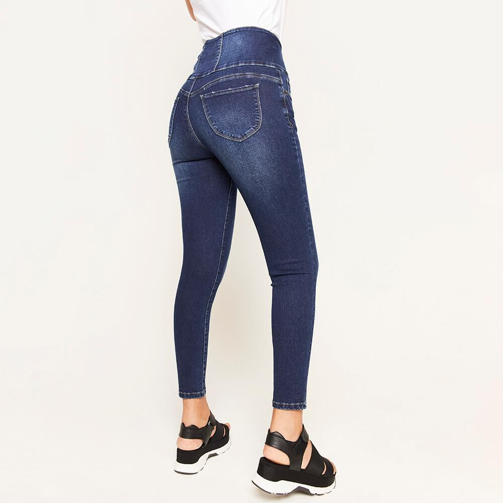 Jeans Pretina Alta Sculpture Mujer Rolly Go image number 2.0
