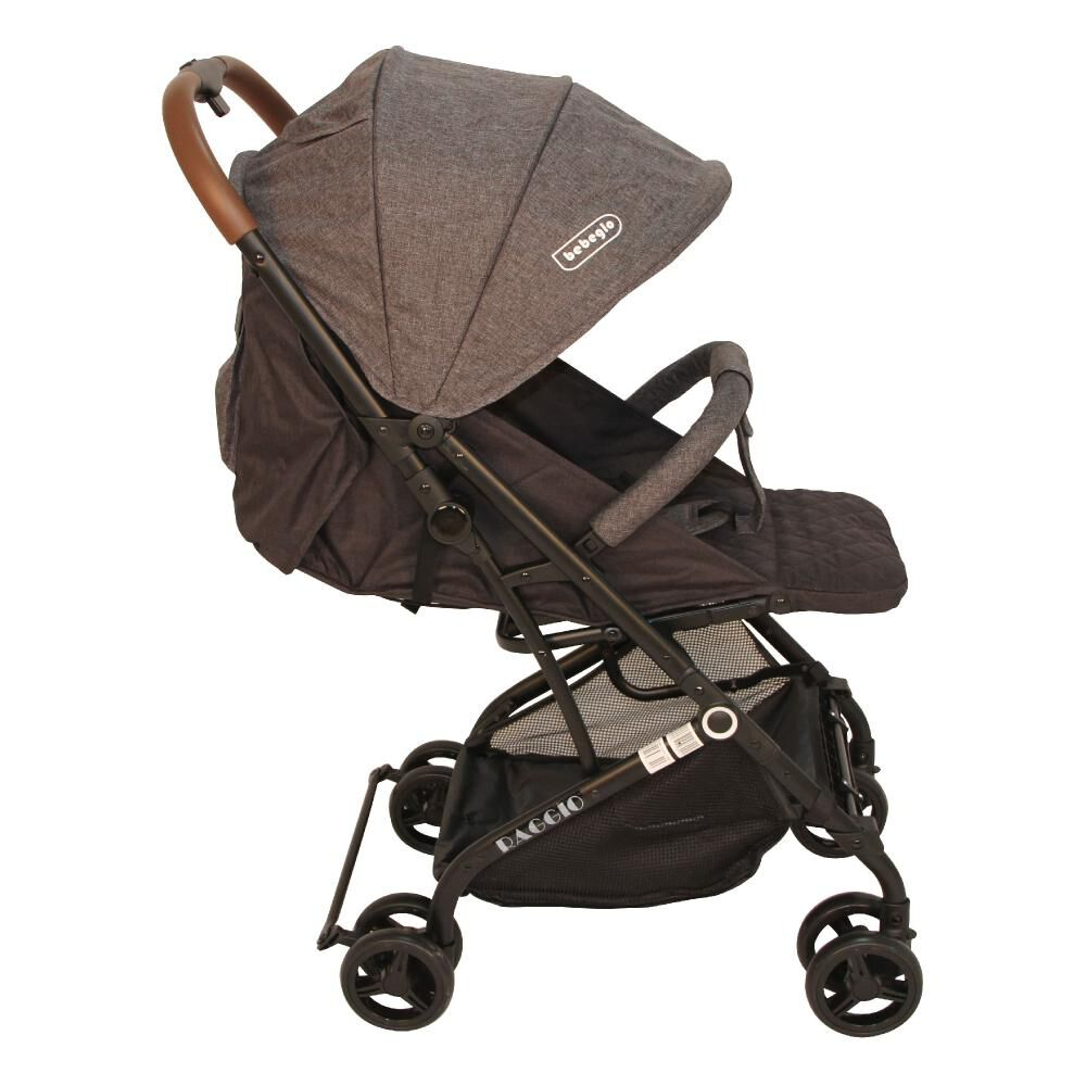 Coche Travel System Compacto Bebeglo RS-13785-3 Gris image number 5.0