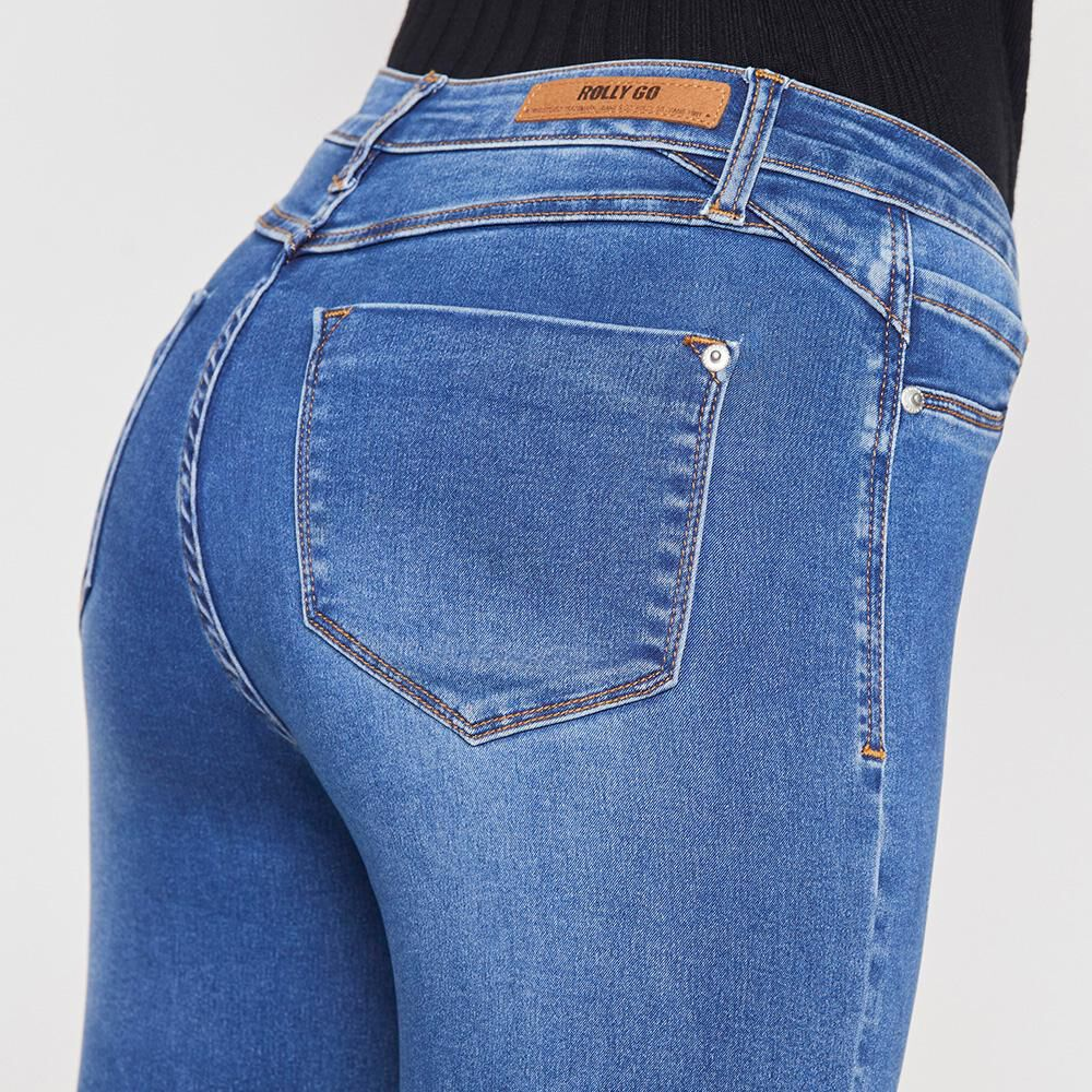Jeans Mujer Tiro Alto Skinny Rolly Go image number 3.0