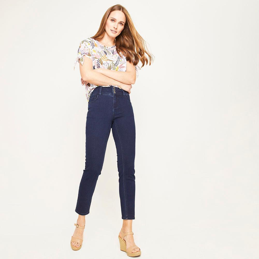 Jeans Tiro Alto Regular Mujer Geeps image number 1.0