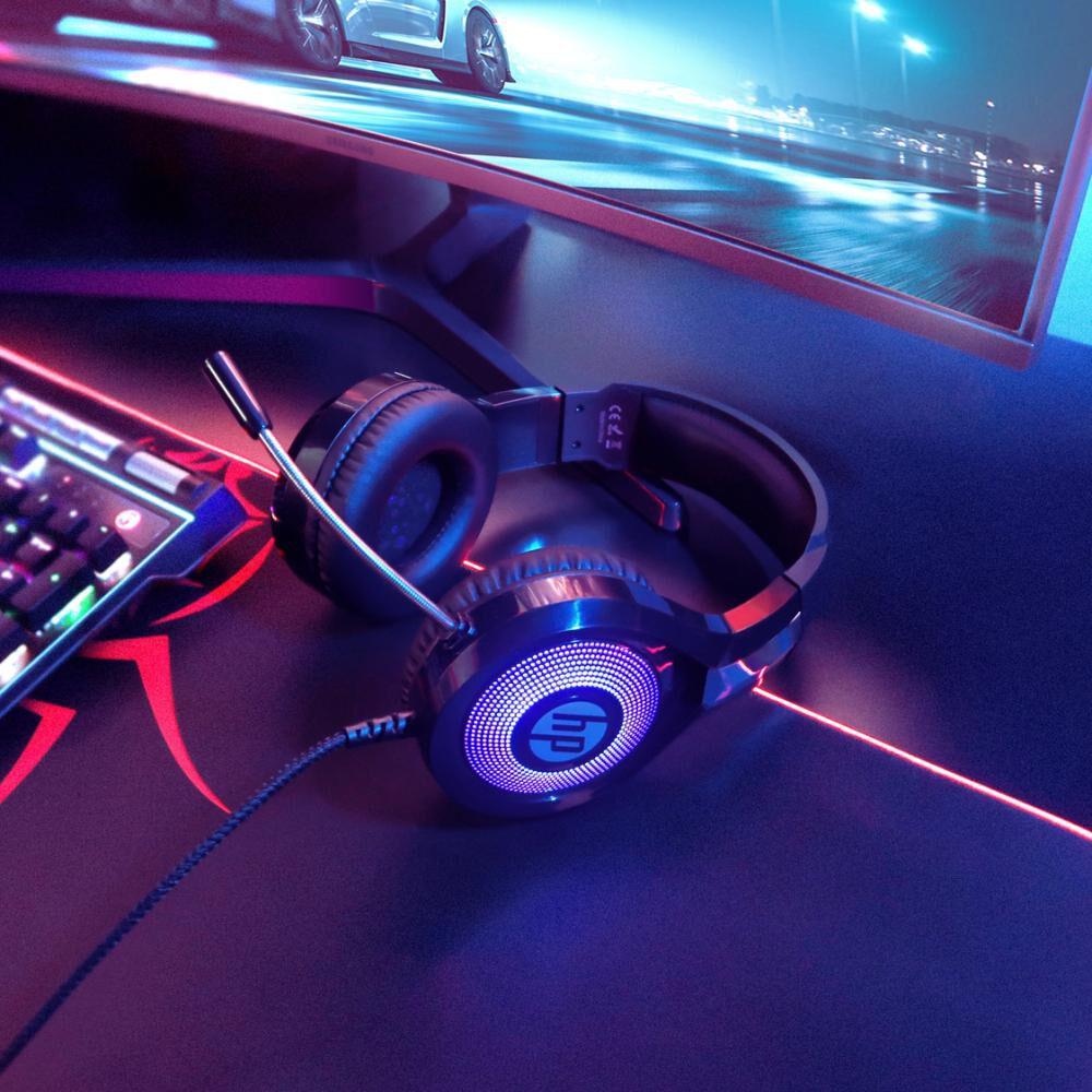 Audífonos Gamer Hp Dhe-8010 Usb+3.5 Led image number 4.0