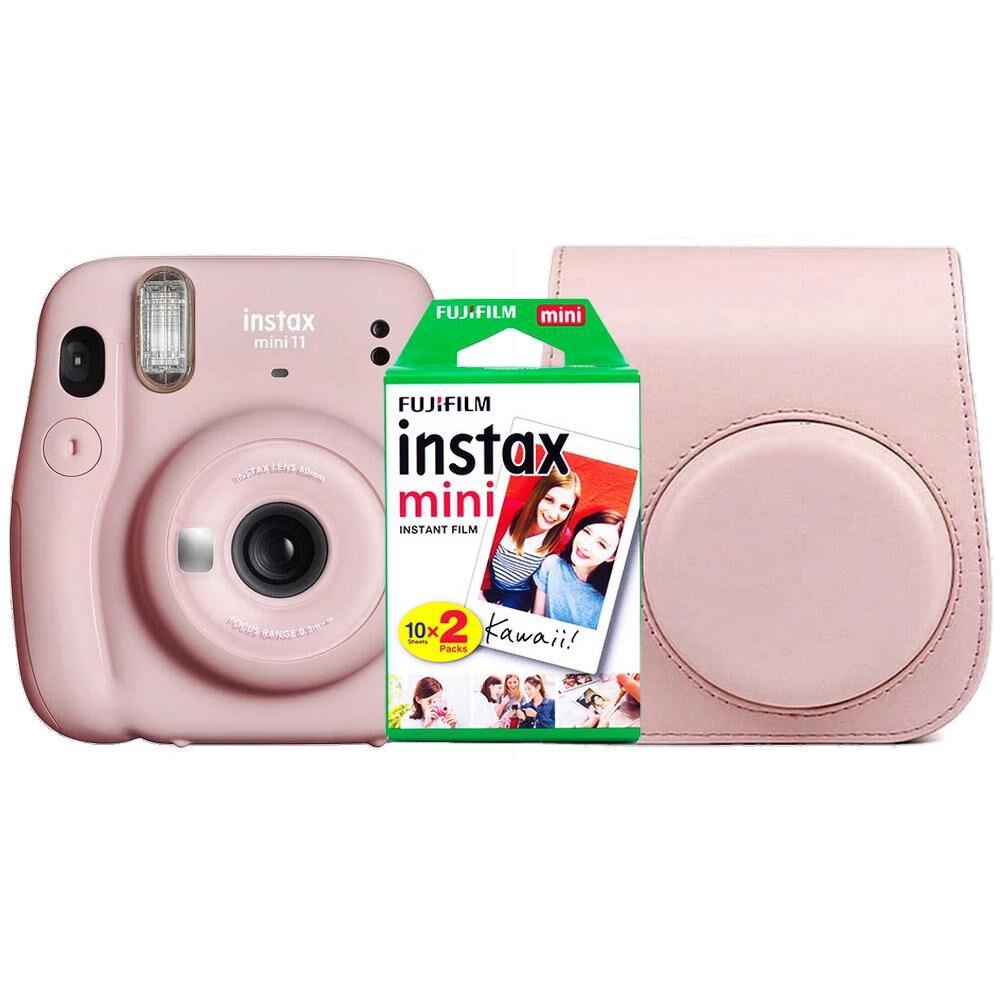 Kit Cámara Instantánea Fujifilm Mini 11 Pink image number 0.0