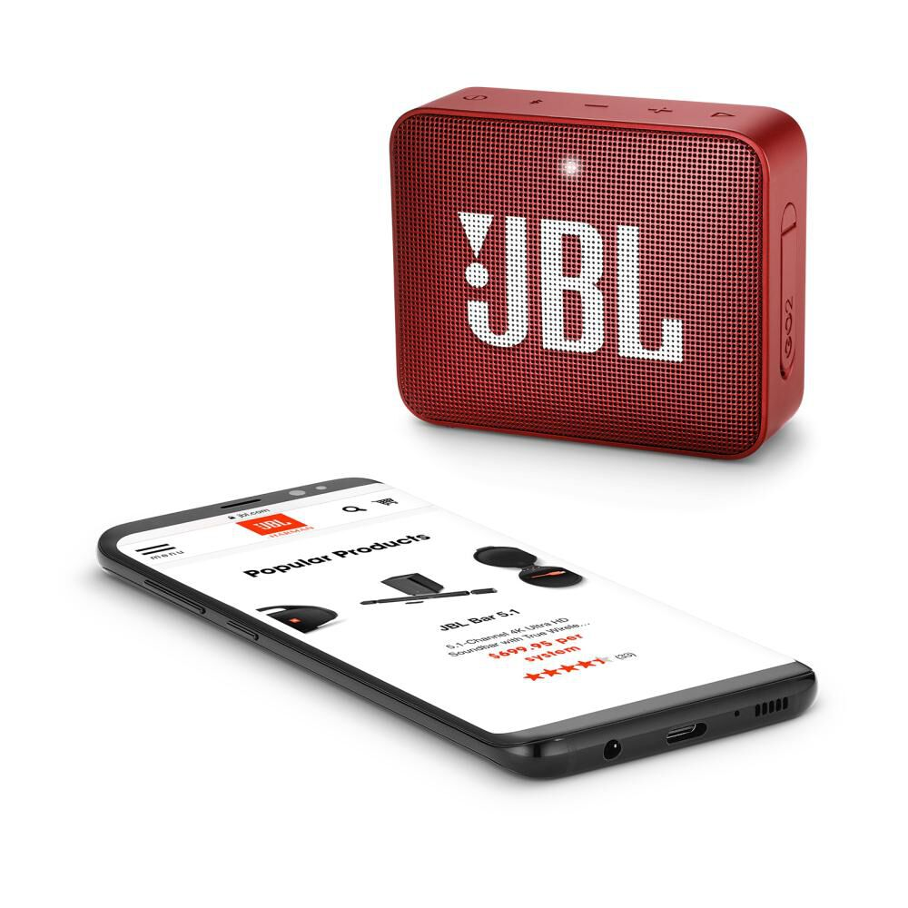 Parlante Bluetooth Jbl Go 2 Red image number 5.0