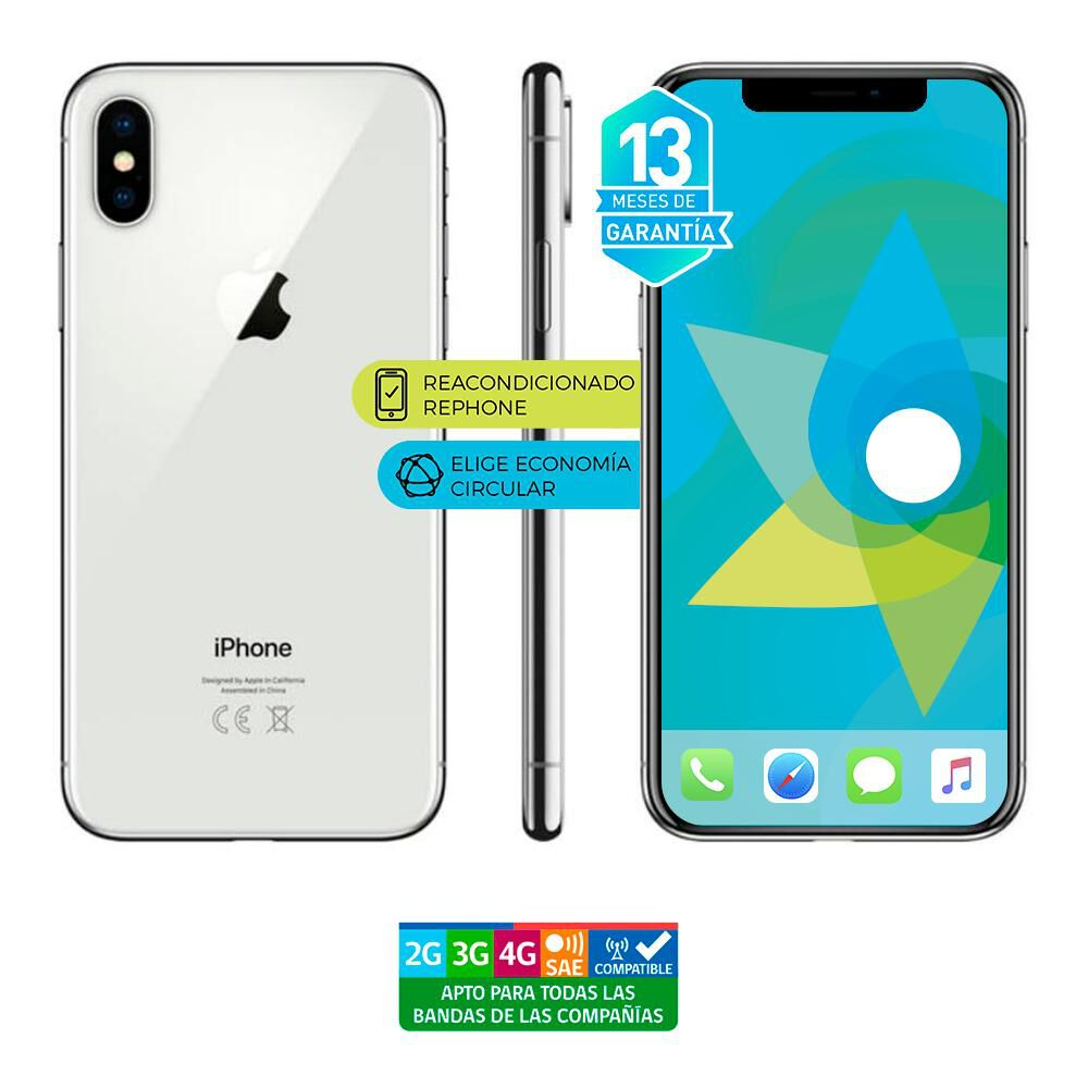 Smartphone Apple Iphone X Reacondicionado Plata / 256 Gb / Liberado image number 3.0