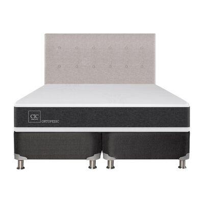 Box Spring Cic Ortopedic / 2 Plazas / Base Dividida  + Respaldo