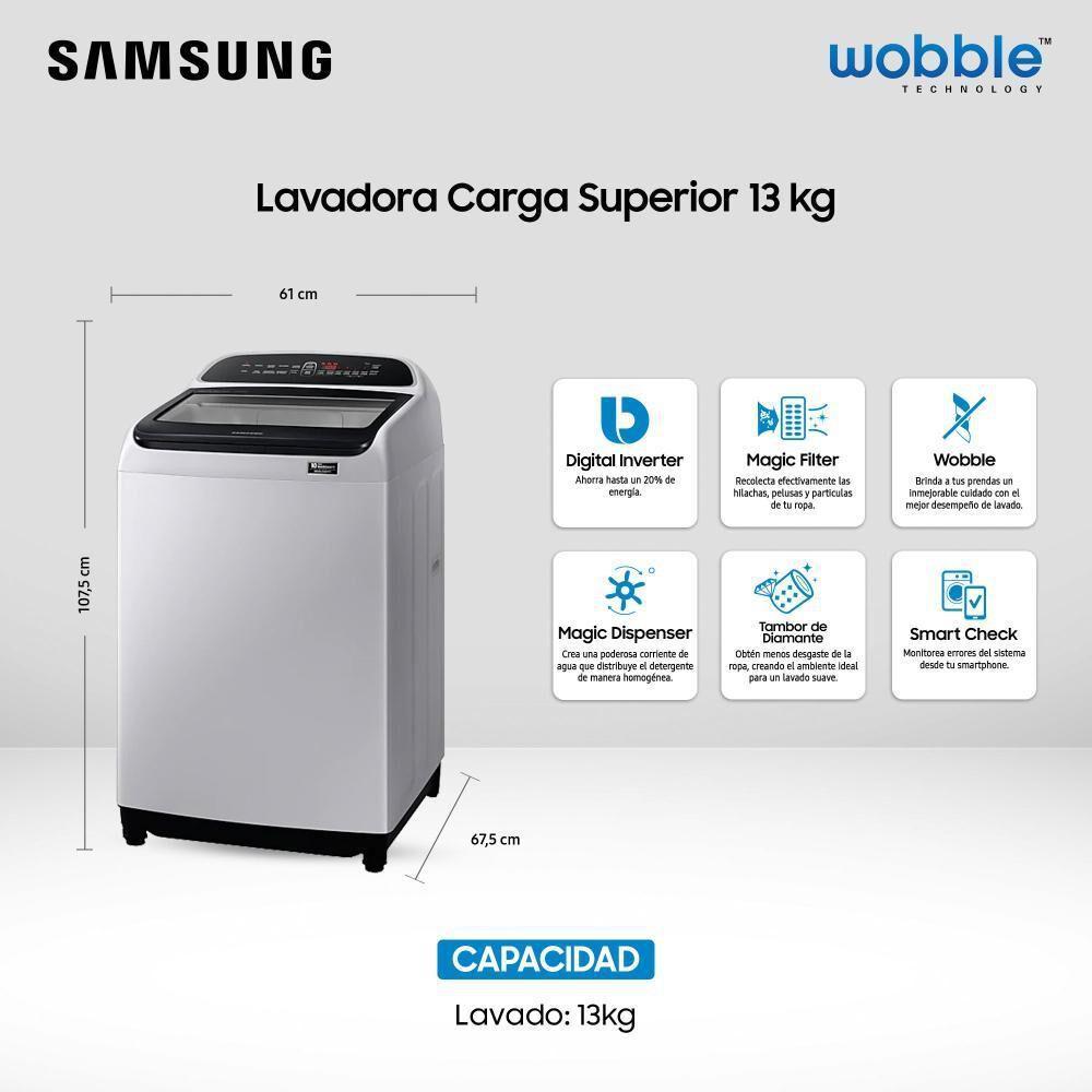 Lavadora Samsung WA13T5260BY/ZS 13 Kilos image number 6.0