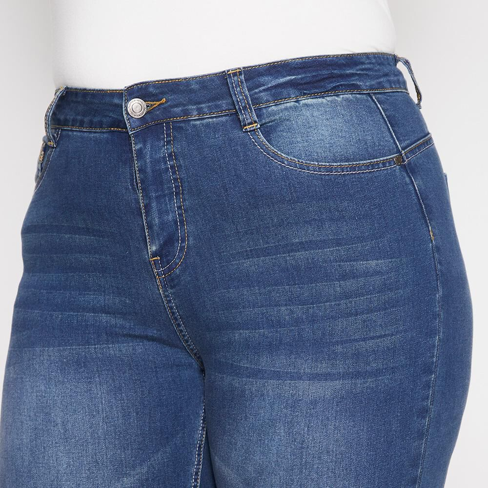 Jeans Tiro Alto Skinny Push Up Mujer Sexy Large image number 3.0