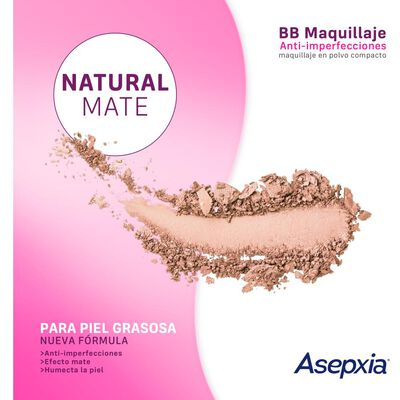 Maquillaje Polvo Asepxia Beige Mediano