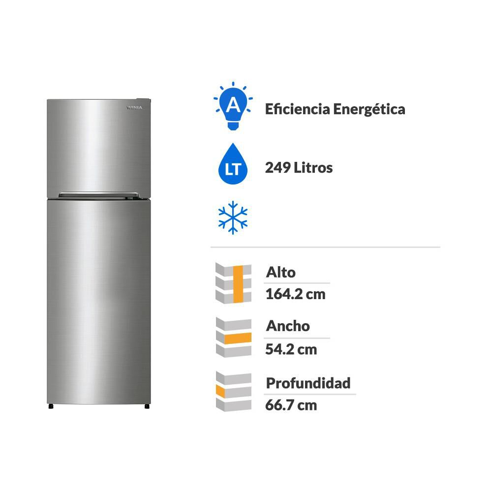 Refrigerador Winia No Frost, Top Mount Rge-2700 249 Litros image number 1.0