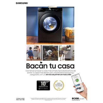 Lavadora-Secadora Samsung WD12N64FR2X 12 / 7 Kilos