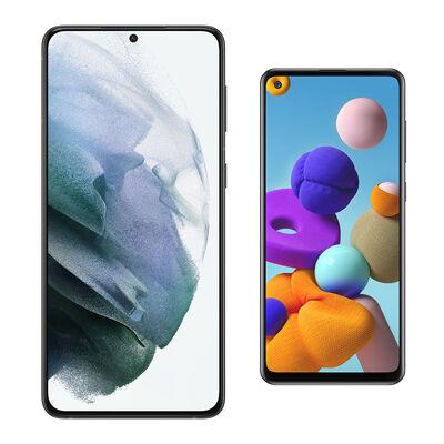 Smartphone Samsung S21 Plus + Galaxy A21S