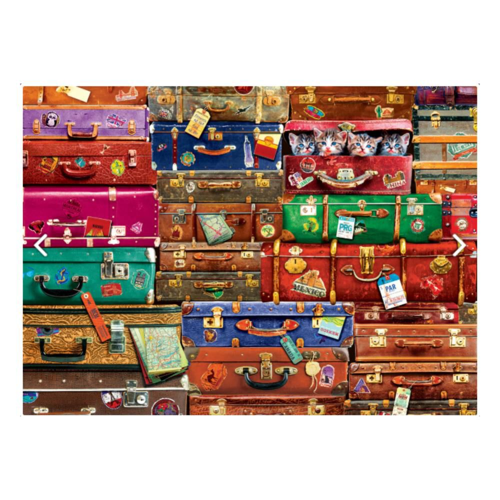Puzzle Eurographics 6000-5468 Travel Suitcases image number 1.0